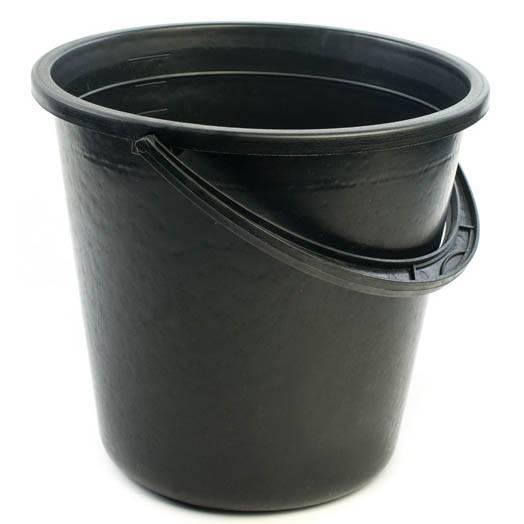 Ведро 10л с мерной шкалой черное ХП, арт.: г01388