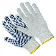 Перчатки трикотажные ХБ с ПВХ  7 класс цена за пару, арт.: 9п3175